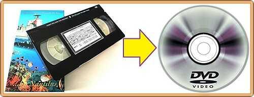 VHSテープからDVDへダビングするイメージ画像